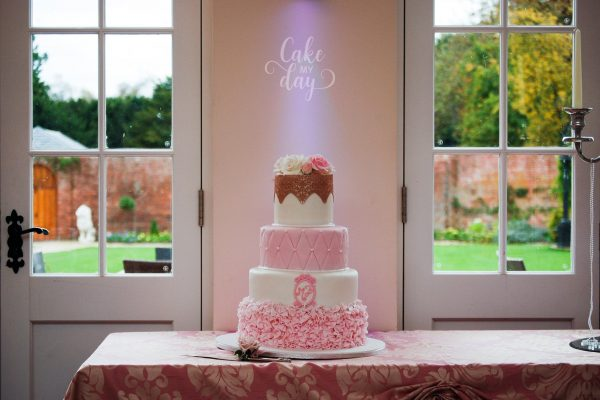 4 tier wedding cake at Orchardleigh Estate from Cake My Day 5